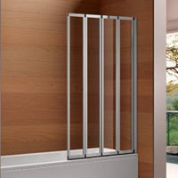 4 fold bath shower screen