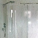 cladding used on the wall in a shower