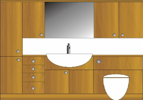 typical bathroom furniture layout