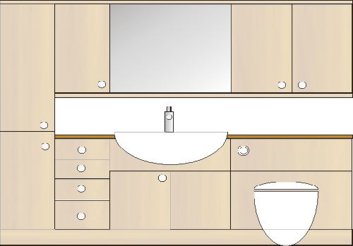 countertop for fitted bathroom furniture