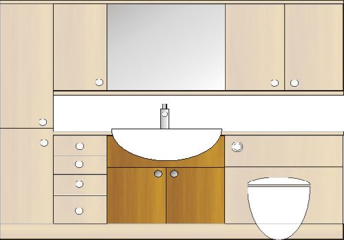 bathroom furniture with a vanity unit