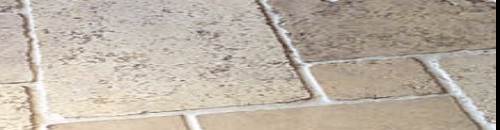 natural stone tiles with a tumbled finish